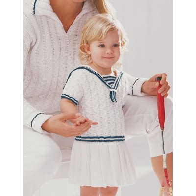 04 Bee Free Dress patons sailor dress free knitting pattern for ones