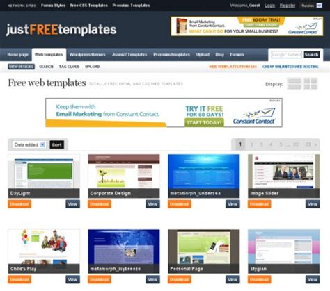 top websites to free website templates webgranth
