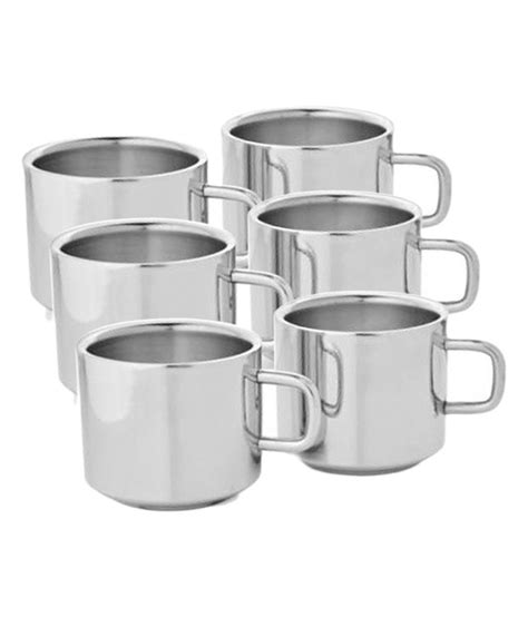 Tea And Coffee Mugs by Shreepal Stainless Steel Double Wall Tea And Coffee Mug