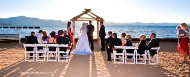 Lake tahoe wedding venue toes in the sand lake front weddinglake