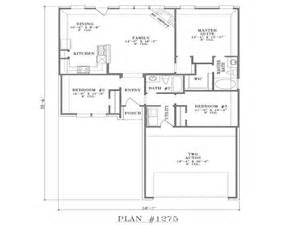 House Plans With Open Floor Design Ranch House Floor Plans Open Floor Plan House Designs