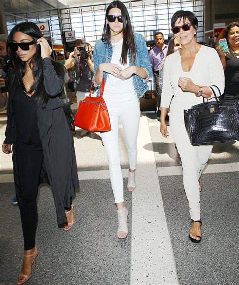 airport tarmac lax kim kardashian game kim kardashian kendall jenner and kris jenner spotted at