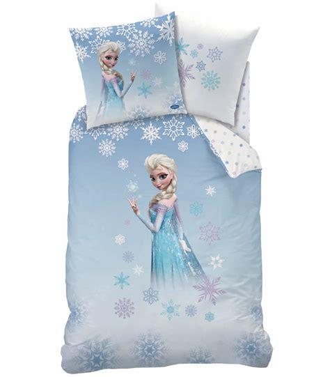 Promo Elsa Set 3in1 housse de couette disney princesse frozen parure de lit r 233 versible 140 x 200 cm decokids