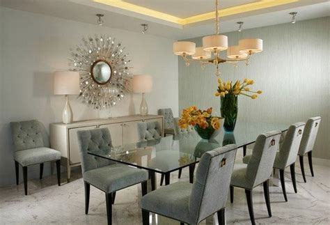 brilliant dining room designs  glass table