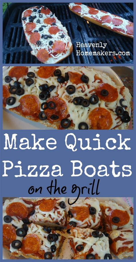 how to make a boat quickly make pizza boats on the grill fast and easy heavenly