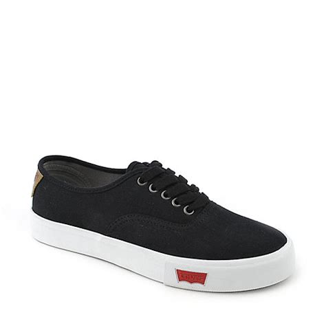 levi s jordy mens black and white casual lace up sneaker