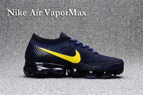 Nike Air Vapor Max 2018 nike air vapormax air flyknit air max 2018 mens running shoes blue gold outlet