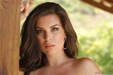 paula tumala wallpapers brunettes women earrings bella da semana magazine faces
