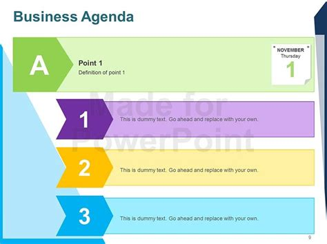 Business Agenda Editable Powerpoint Template Agenda Powerpoint Template