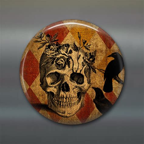 Skull Kitchen Accessories by Items Similar To Skull And Fridge Magnet Kitchen Decor Decor Black