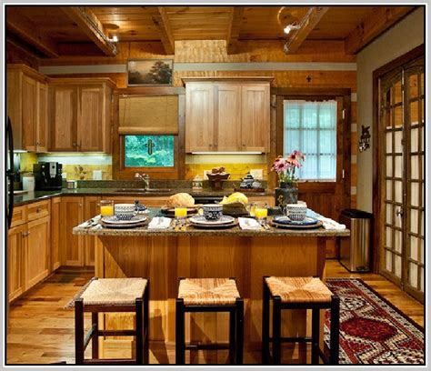 Discount Kitchen Cabinets Ma rustic hickory cabinets home design ideas