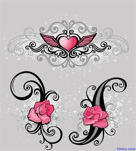 pictures of hearts and roses tattoos tattoos fimho