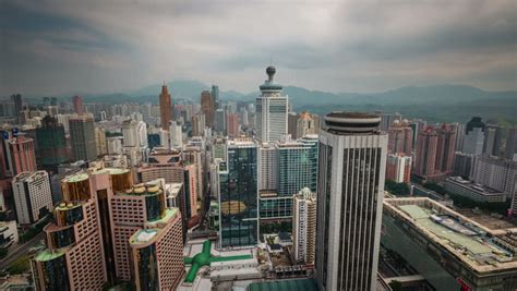Best Mba China Shenzhen by Cloudy Day Shenzhen City Roof Top Panorama 4k Time Lapse