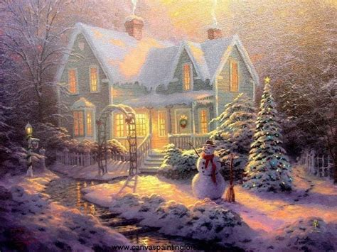 images of christmas paintings blessings of christmas by thomas kinkade youtube