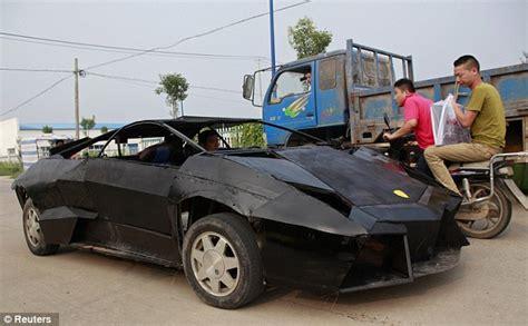 fake ferrari funny chinese farmer builds replica of 163 1m lamborghini for just