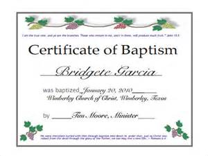 Catholic Baptism Certificate Template by Baptism Certificate 11 Free Sles Exles Format