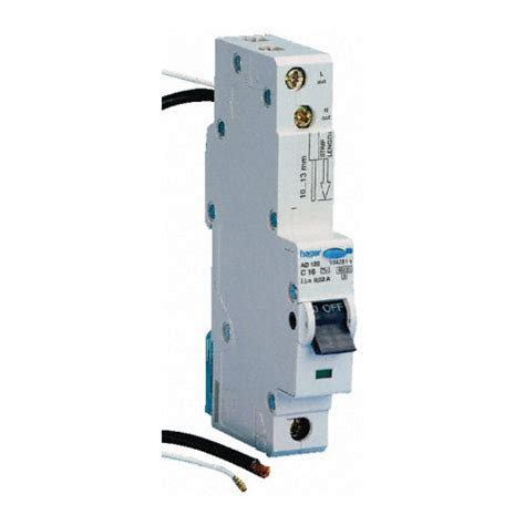 hager ad116t 16 single pole mcb rcd 30ma 6ka
