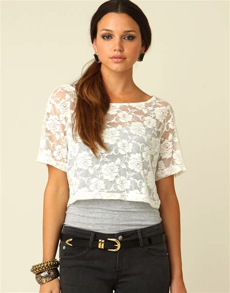 Lace Cropped Top foreverstylestruck summer trend crop tops