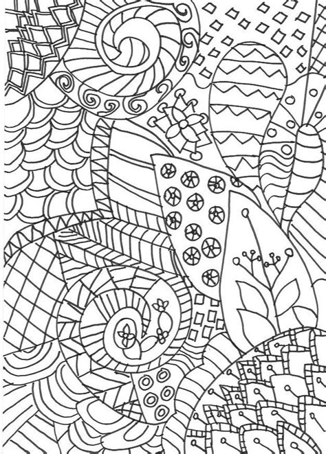 Zentangle Colouring Pages In The Playroom Colouring In
