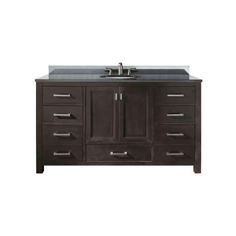 60 Inch Sink Vanity Granite Top by Avanity Modero 60 Inch Single Vanity With Black Granite