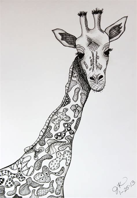 pattern giraffe drawing patterns jill s art journal