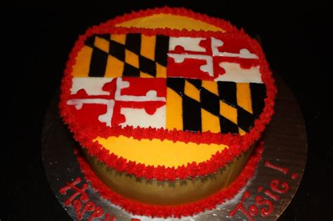 Birthday Cakes Maryland A Maryland Flag Birthday Cake Birthday Cakes
