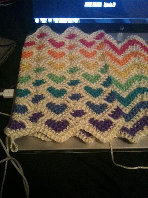 reversible ripple afghans free pattern reversible sweetheart and ripple afghan in rainbow colours