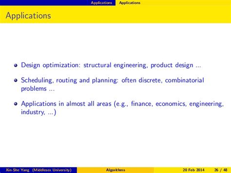 Applications Of Metaheuristic Optimization Algorithms In Civil Eng analysis of nature inspried optimization algorithms