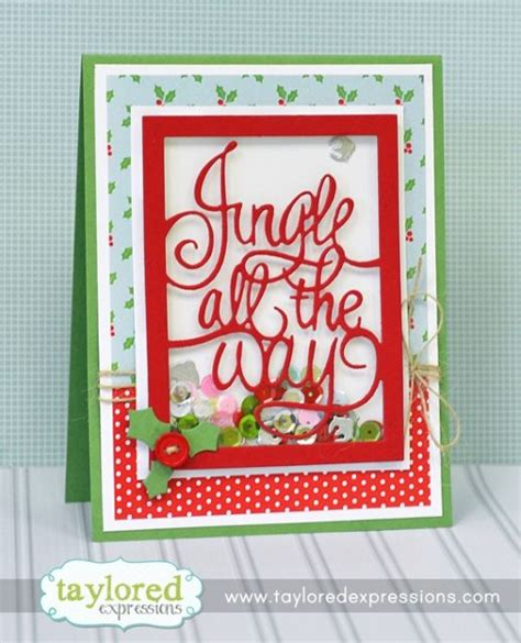 Jingle Shaker 1000 images about die cut cards taylored expressions on