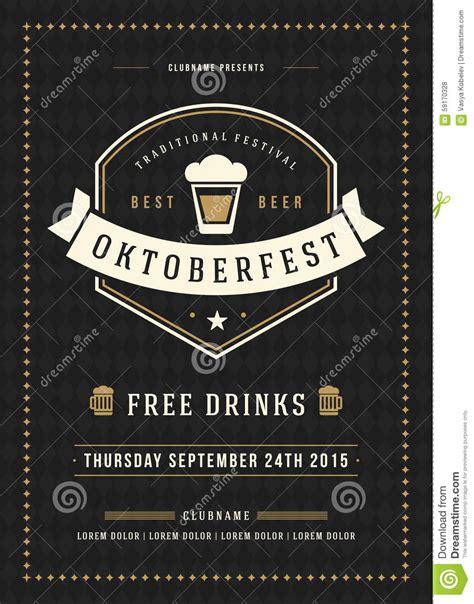 festival poster template free oktoberfest festival poster or flyer template