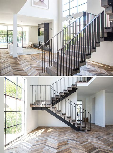 16 Inspirational Examples Of Herringbone Floors   CONTEMPORIST