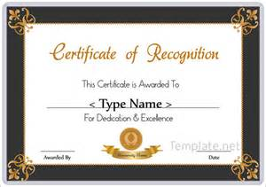 template for certificate of recognition recognition awards certificates images