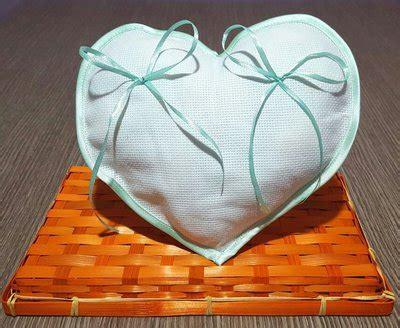cuscino portafedi da ricamare cuscino fedi cuscinetto portafedi cuore aida da ricamare