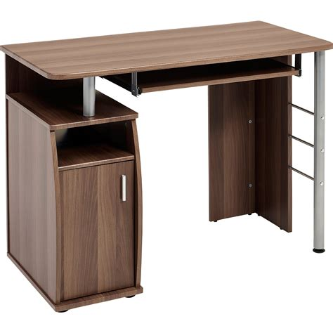 Compact Computer Table With Storage Cabinet Piranha Desk Storage