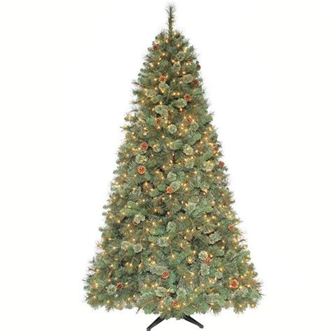 7 fr martha stewart slim christmas tree martha stewart living 7 5 ft pre lit sparkling pine artificial tree with clear