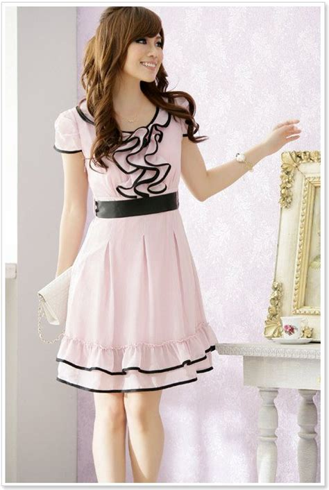 Dress Korea Pink By Griyaaglie korean dress korean dress k1222 pink k1222 10 90
