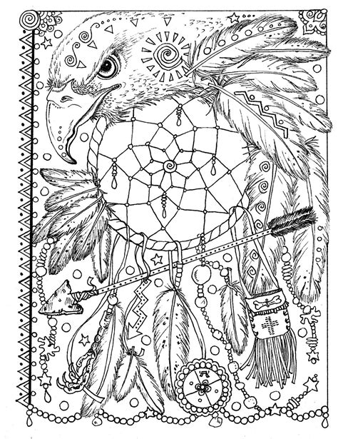 coloring pages of spirit animals animal spirit dreamcatchers coloring fun for all ages