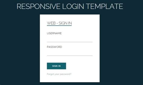 responsive login form template 20 free html5 and css3 login form templates webprecis