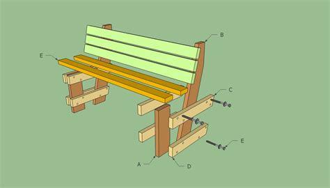 simple park bench plans   build diy woodworking