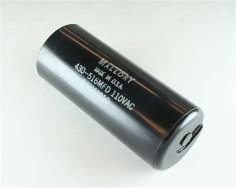 mallory capacitor 110vac psu43010 mallory capacitor 430uf 110v application motor start 2020044620