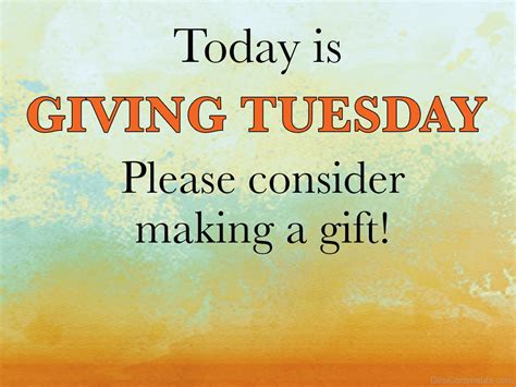 Tuesday Is Today today is giving tuesday desicomments