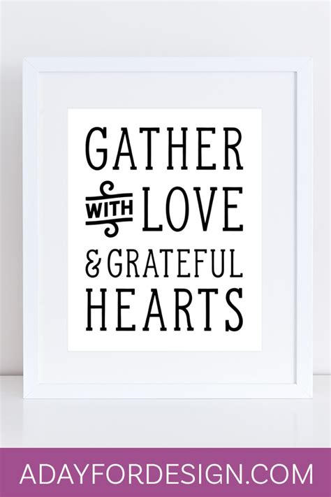 gather with love printable thanksgiving poster a day for
