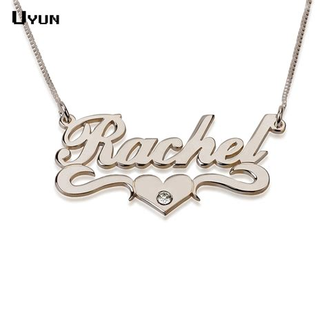 custom name necklace personalized silver carrie style