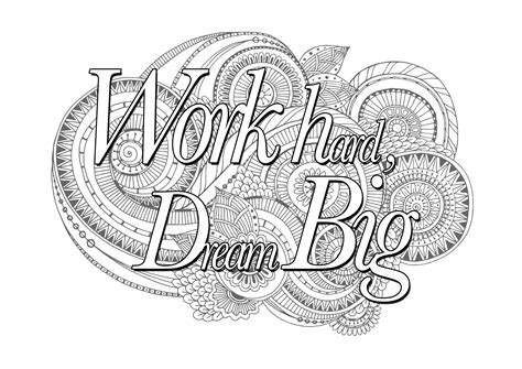 coloring page hard work quotes coloring pages coloring pages for adults