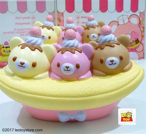 17 cm squishy bunnys cafe jumbo kumatan banana split bowl leotoystore