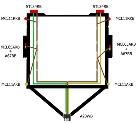 trailer lighting board wiring diagram free