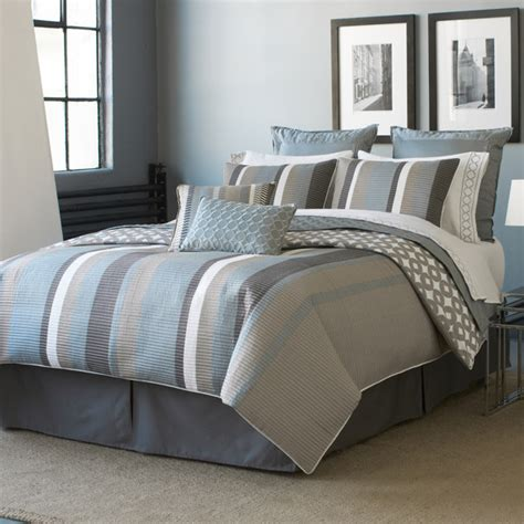 Blue And Grey Comforter Set by Modern Furniture Bedding Designs 2011