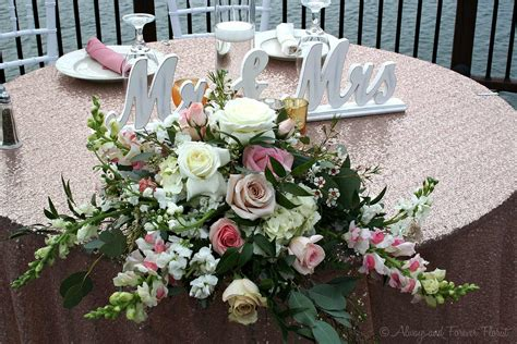 bride and groom table lauren s gold glitters in a late march wedding always