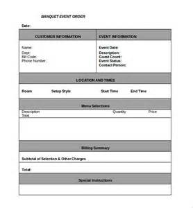 banquet order form template order template 26 free word excel pdf documents