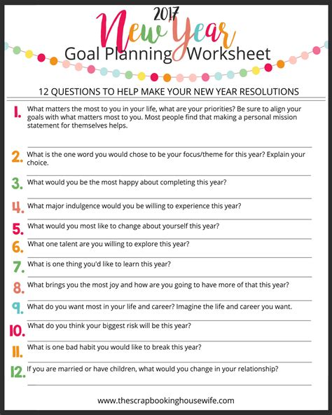 worksheets about new year ellabella designs how to make your goals succeed